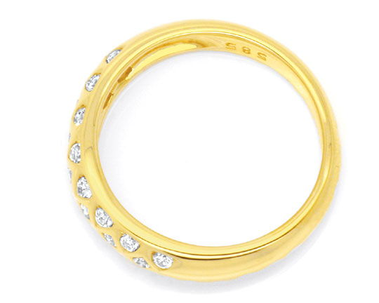Foto 3, Brillant Ring, 23 Diamanten River Lupenrein Gold Luxus!, S6085