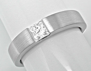 Foto 1, Neu! Spann-Ring River Lupenrein Princess-Diamant Luxus!, S6094