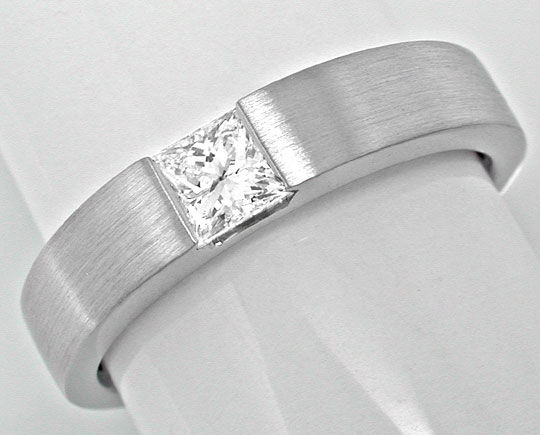 Foto 2, Neu! Spann-Ring River Lupenrein Princess-Diamant Luxus!, S6094