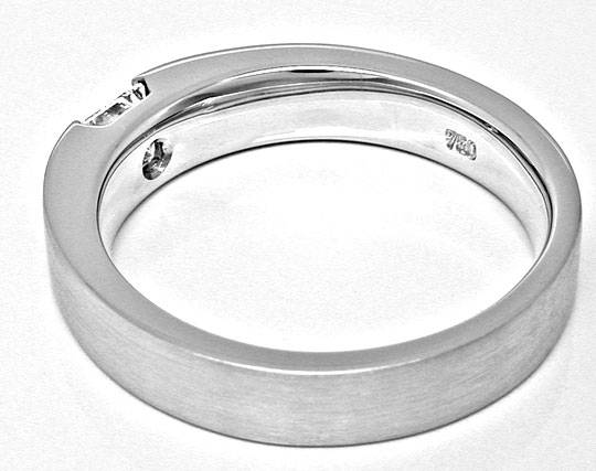 Foto 3, Neu! Spann-Ring River Lupenrein Princess-Diamant Luxus!, S6094