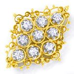 Edle Diamantbrosche reine Handarbeit 0,75ct Brillianten