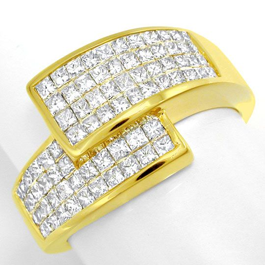 Foto 2 - Ring Princess Diamanten 1ct Invisible, Gold Luxus! Neu!, S6121