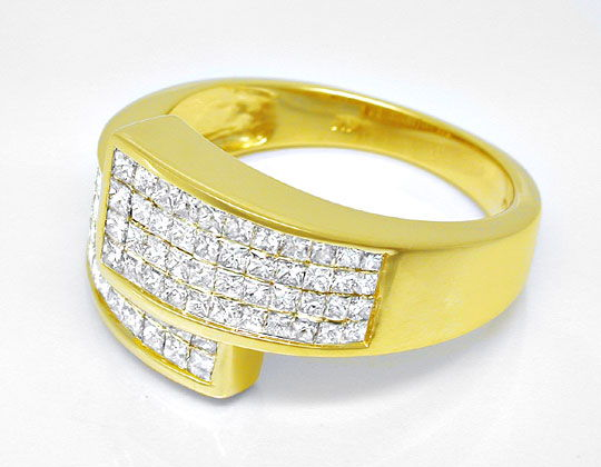 Foto 3 - Ring Princess Diamanten 1ct Invisible, Gold Luxus! Neu!, S6121