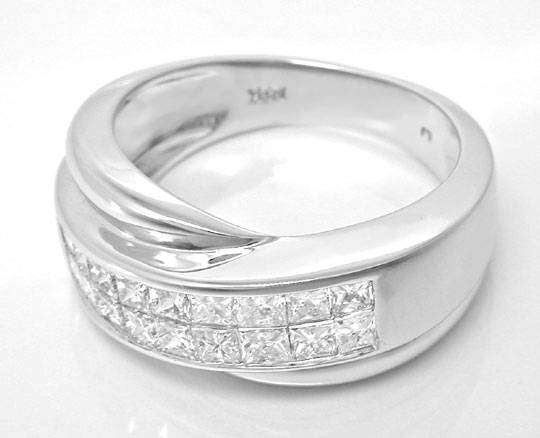 Foto 3 - Ring Princess Diamanten Invisible! Weissgold Luxus! Neu, S6122