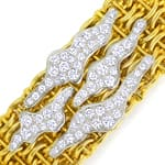 Brillant Halsband 4,06ct 18K Bicolor massiv Schmuck Neu