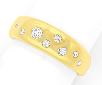 Foto 1, Diamant-Ring 0,35ct Brillanten, Princess-Schliff, Luxus, S6159