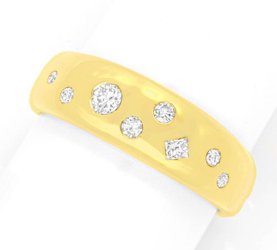 Foto 2 - Diamant Ring 0,35ct Brillanten, Princess Schliff, Luxus, S6159