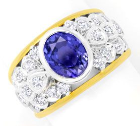 Foto 1 - Brillant Diamant Goldring 3,35ct Traum Safir Luxus! Neu, S6164