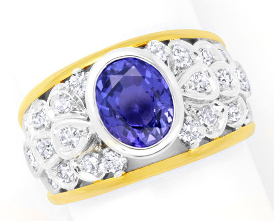 Foto 2 - Brillant Diamant Goldring 3,35ct Traum Safir Luxus! Neu, S6164