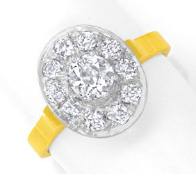 Foto 1 - Ring 1,22ct Diamanten Altschliff, Handarbeit 18K Luxus!, S6167