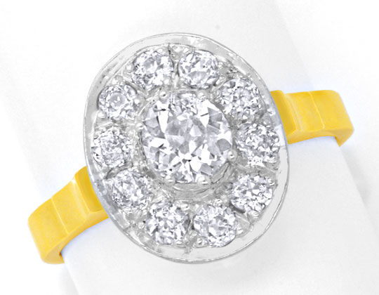 Foto 2 - Ring 1,22ct Diamanten Altschliff, Handarbeit 18K Luxus!, S6167