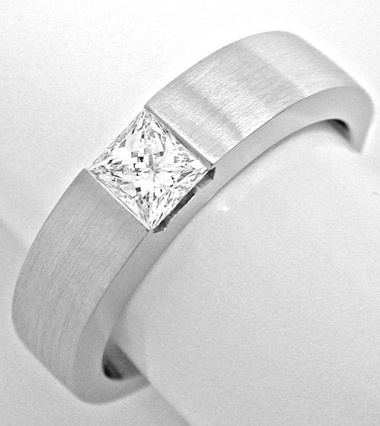 Foto 2 - Princess Diamant Solitär Ring Weissgold 18K Luxus! Neu!, S6195