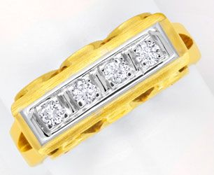 Foto 1 - Goldring mit Diamanten Brillanten Handarbeit 14K Luxus!, S6198