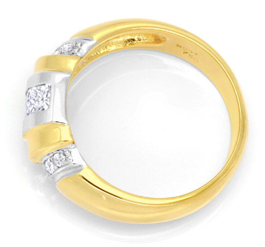 Foto 3, Diamantring, Grosse Princess Diamanten, 18K Luxus! Neu!, S6211