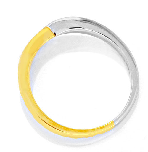 Foto 3 - Diamant Ring Gelbgold Weissgold 0,13 Diamanten Shop Neu, S6216