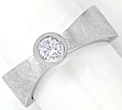 Foto 1, Brillantring Super-Design 0,25ct River Lupenrein Luxus!, S6217
