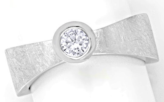Foto 2, Brillantring Super-Design 0,25ct River Lupenrein Luxus!, S6217