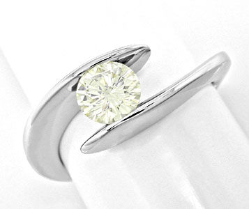 Foto 1, Traum Design! Brillant Solitär Ring 0,78ct! Luxus! Neu!, S6219