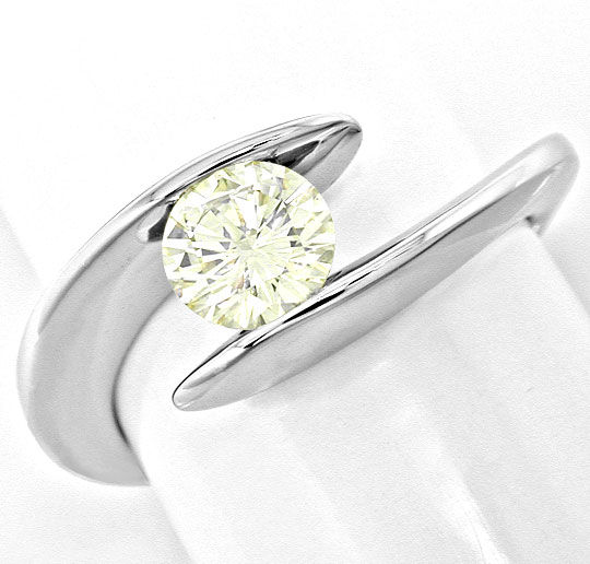 Foto 2, Traum-Design! Brillant-Solitär-Ring 0,78ct! Luxus! Neu!, S6219