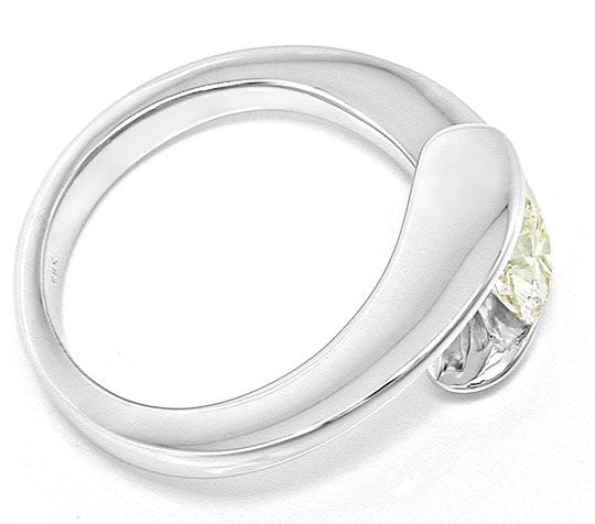 Foto 3, Traum Design! Brillant Solitär Ring 0,78ct! Luxus! Neu!, S6219