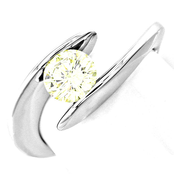 Traum Design! Brillant Solitär Ring 0,78ct! Luxus! Neu!, Designer Ring