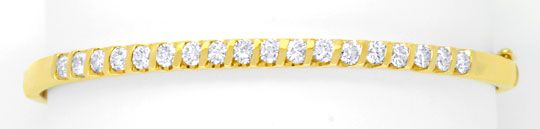 Foto 1 - Brillantenarmreif Gelbgold 1,25ct Diamanten Luxus! Neu!, S6238