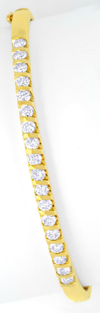 Foto 2 - Brillantenarmreif Gelbgold 1,25ct Diamanten Luxus! Neu!, S6238