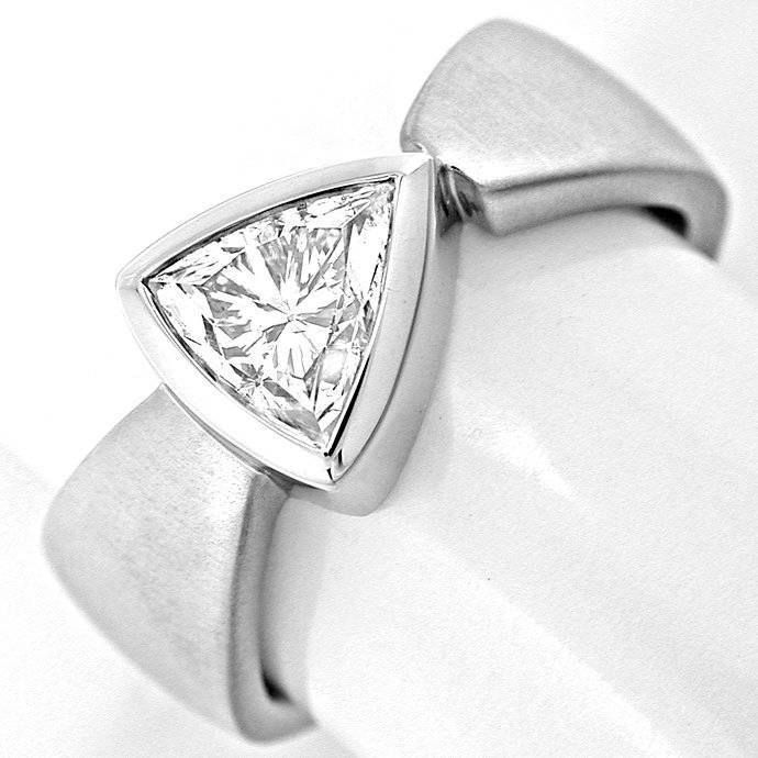 Trillion Trillant Diamant Ring, Handarbeit, 18K, Luxus!, Designer Ring