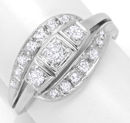 Foto 1 - Diamantring Weissgold, mit Diamanten, Brillanten Luxus!, S6255