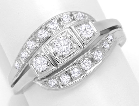 Foto 2, Diamantring Weissgold, mit Diamanten, Brillanten Luxus!, S6255