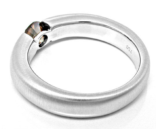 Foto 3, Brillant Spann Ring Top Braun 18K Weissgold Luxus! Neu!, S6261
