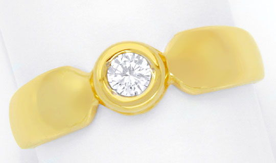 Foto 2 - Diamantring Gelbgold, Solitär Brillant 0,12ct Shop Neu!, S6264
