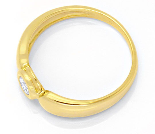 Foto 3 - Diamantring Gelbgold, Solitär Brillant 0,12ct Shop Neu!, S6264