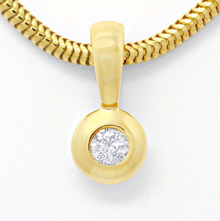 Foto 3, Diamant Goldkollier, 0,17ct Brillant Solitär, Shop Neu!, S6265