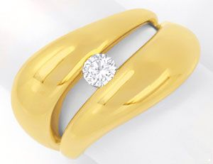 Foto 1, Super-Design Brillantring Gelbgold, 0,25ct River Luxus!, S6281