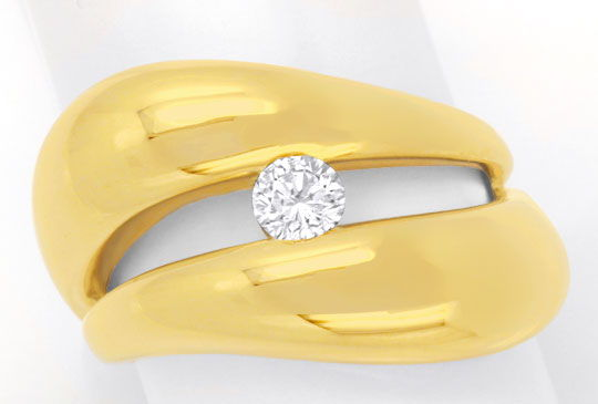 Foto 2, Super Design Brillantring Gelbgold, 0,25ct River Luxus!, S6281
