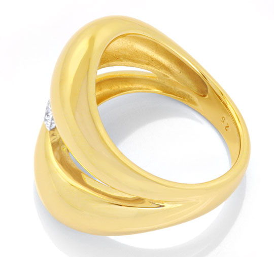 Foto 3, Super-Design Brillantring Gelbgold, 0,25ct River Luxus!, S6281