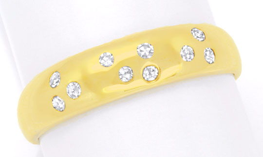 Foto 2 - Diamantring Gelbgold, mit 10 Diamanten River, Shop Neu!, S6282