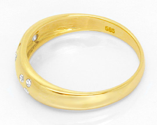 Foto 3 - Diamantring Gelbgold, mit 10 Diamanten River, Shop Neu!, S6282