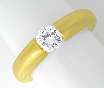 Foto 1 - Brillant Spann Ring River D VS 18K Gelbgold Luxus! Neu!, S6310