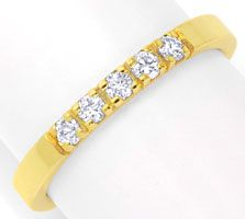 Foto 1 - Brillant Halbmemory Diamantring Gelbgold 0,2ct Shop Neu, S6327
