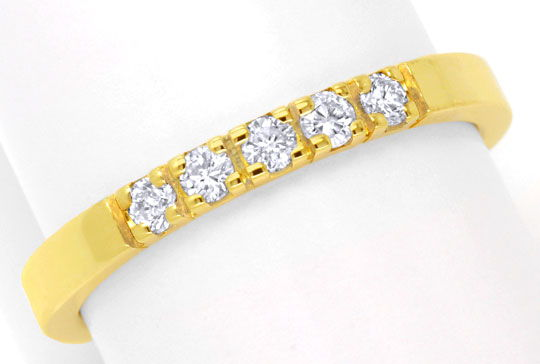 Foto 2 - Brillant Halbmemory Diamantring Gelbgold 0,2ct Shop Neu, S6327