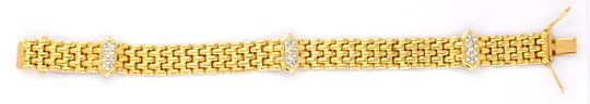 Foto 1, Brilliant Armband Gelbgold 0,67ct Diamanten Luxus! Neu!, S6336