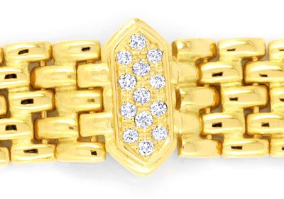 Foto 2, Brilliant Armband Gelbgold 0,67ct Diamanten Luxus! Neu!, S6336