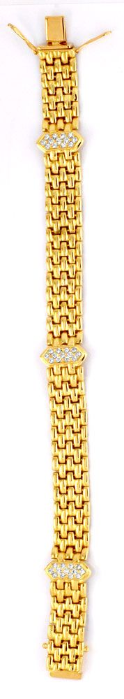 Foto 3, Brilliant Armband Gelbgold 0,67ct Diamanten Luxus! Neu!, S6336