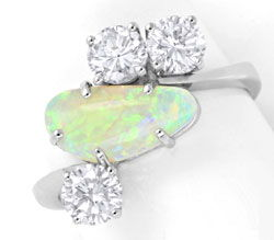 Foto 1, Brillantring 1,2ct River SI Super-Opal Weissgold Luxus!, S6347