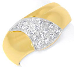 Foto 1, Diamantring Top Design 18K Gold 0,20ct Diamanten Luxus!, S6424