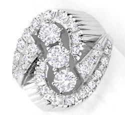 Foto 1, 1A-Exklusiver Diamant-Ring 18K Weissgold, 1,43ct Luxus!, S6436
