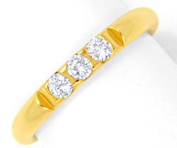 Foto 1 - Brillantring, 18K Gelbgold, 3 Top Brillanten, Shop Neu!, S6445