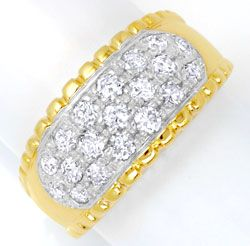 Foto 1 - Brillantring Gelbgold 19 Brillanten 0,93ct River Luxus!, S6451